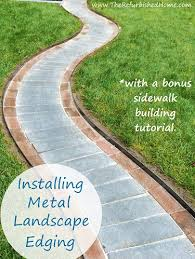 Steel Landscape Edging by Create Beautiful Sidewalks And Landscaping With Coyote Raw Steel