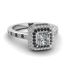 princess cut black engagement rings free rings engagement ring with black accents