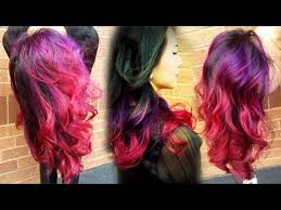 weave hairstyles with purple tips hellocindee full length tutorial purple pink ombre done on