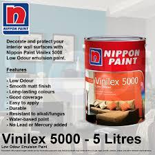 qoo10 nippon paint vinilex 5000 low odour emulsion paint 5 litre