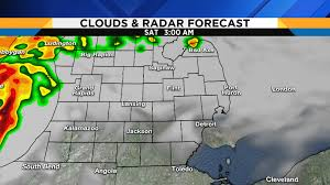 Detroit Michigan Map by Metro Detroit Weather Forecast Honing In On Tonight U0027s Severe