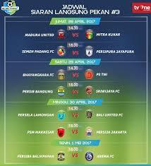 live tvone jadwal siaran langsung pertandingan liga 1 jumat 28