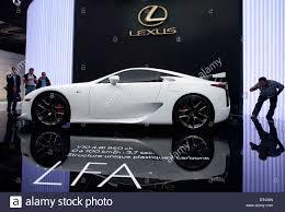 lexus sports lfa lexus lfa car at paris motor show 2010 stock photo royalty free
