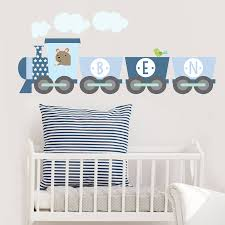 baby name wall stickers train name fabric wall sticker decorative accessories