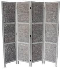 beck 4 panel room divider gray tropical screens and room