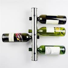 12 bottles set stainless steel silver wine rack bar wall mounted