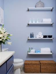 How To Decorate Your Bathroom by Decorating With Floating Shelves Hgtv