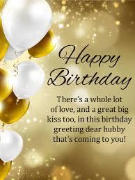 to my hubby happy birthday wishes card birthday greeting