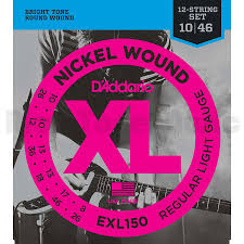 Light Guitar Strings by D U0027addario Exl150 Regular Light Guitar Strings 12 String 10 46