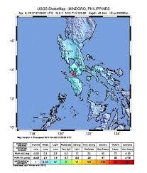 san jose mindoro map earthquake info m5 7 earthquake on sat 8 apr 07 09 25 utc