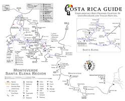 Map Costa Rica Monteverde Map Map Of Monteverde Costa Rica And Santa Elena