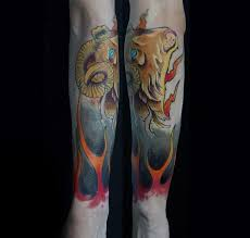 75 aries tattoos for men zodiac ink design ideas