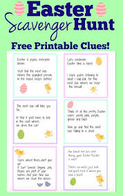 easter scavenger hunt easter scavenger hunt free printable clues easter scavenger