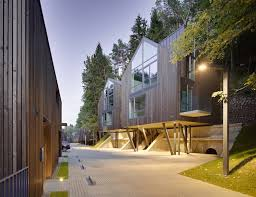 contemporary timber homes rise above lithuania u0027s historic