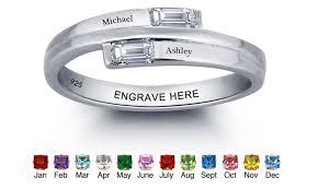 promise rings com images Custom birthstone promise rings groupon jpg