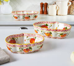 Pumpkin Soup Tureen And Bowls by Temp Tations Pumpkin Patch Or Harvest Set Of 3 Bowls Page 1
