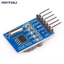 1 pcs ds1302 horloge temps rà el module horloge puce rtc module