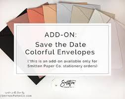 Save The Date Envelopes Save The Date Envelopes Add On Wedding Envelopes Colorful