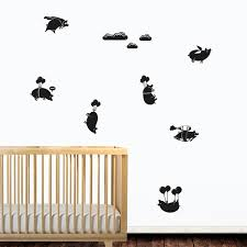 pigs might fly wall sticker set fun piggy wall decor
