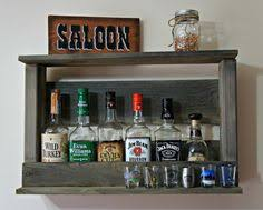 Rustic Bar Cabinet Hanging Liquor Cabinet Rustic Liquor Rack By Coolandusefulthings