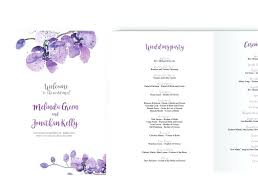 wedding booklet templates template editable wedding program template booklet ms word purple