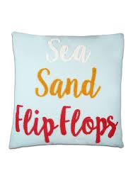 elise u0026 james home sea sand and flip flops decorative pillow belk