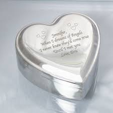 engravable box engraved silver heart jewelry box giftsforyounow