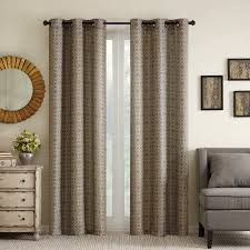 fashion window milo basketweave curtain panel pair with grommets