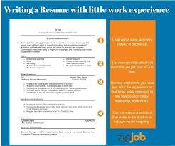resume write summary resume writing a without much experience how