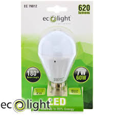 buy ecolight b22 warm white led light bulbs case of 12 at home