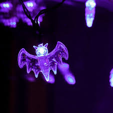 amazon com halloween string lights purple ki store bat led light