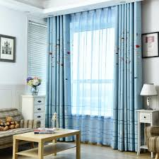 online get cheap blue patterned drapes aliexpress com alibaba group