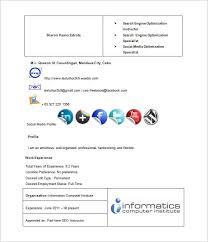 Plain Resume Template Seo Executive Resume Template U2013 12 Free Word Excel Pdf Format