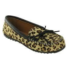 minnetonka full leopard moccasin moccasins