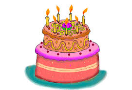 birthday cake animations with candles burning to make a birthday wish