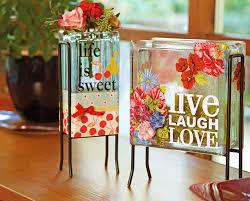 Ben Franklin Crafts and Frame Shop Inspiration Glass Blocks