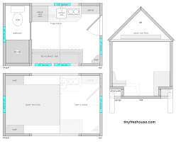 blueprints for tiny houses modern house plans tiny plan with loft on wheels houses from the