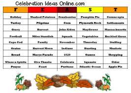 thanksgiving bingo word list divascuisine
