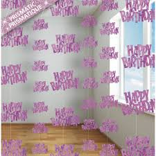 birthday glitz hanging decorations pink from all you need to
