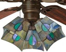 Ceiling Fan Sconces Stained Glass Ceiling Fan Shades Foter