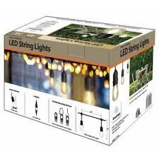 smartyard led string lights 24 ft 12 light led string light 10295 the home depot