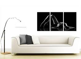 Bedroom Wall Art Sets Sensual Woman Canvas Wall Art Set Of Three For Your Bedroom