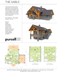 purcell timber frames prefab home packages the gable home