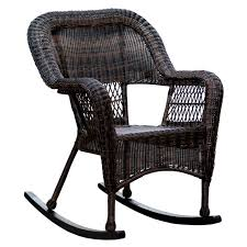 Rocking Chair Outdoor Furniture Dark Brown Wicker Outdoor Patio Rocking Chair At Home At Home