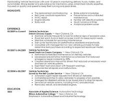 Automotive Technician Resume Examples by Sample Mechanic Resume Enwurf Csat Co