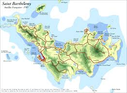 Map Of Caribbean Island by St Barts Map St Barths Map