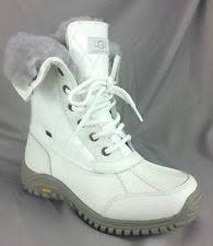 ugg adirondack ii otter winter boots s ugg australia womens adirondack ii boots white qulted 1012213 6 ebay