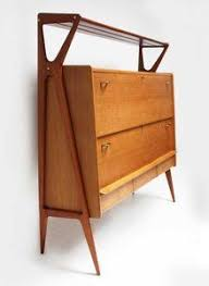 1950 Modern Furniture by Rare Tambour Sideboard By Finn Juhl In Teak For Niels Vodder Ca