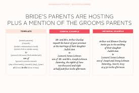 Wedding Invitation Wording From Bride And Groom Wedding Invitation Brides Parents Hosting Yaseen For