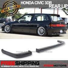 honda civic 91 hatchback parts 88 91 honda civic 2dr 3dr jdm ikon lip 2pc rear bumper lip spoiler